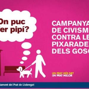 Imatge gràfica de la campanya de civisme contra les pixarades dels gossos, 2010