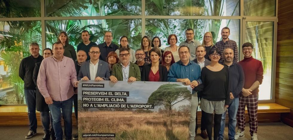 Declaració unànime de tots els grups municipals contra l'ampliació de la tercera pista de l'aeroport