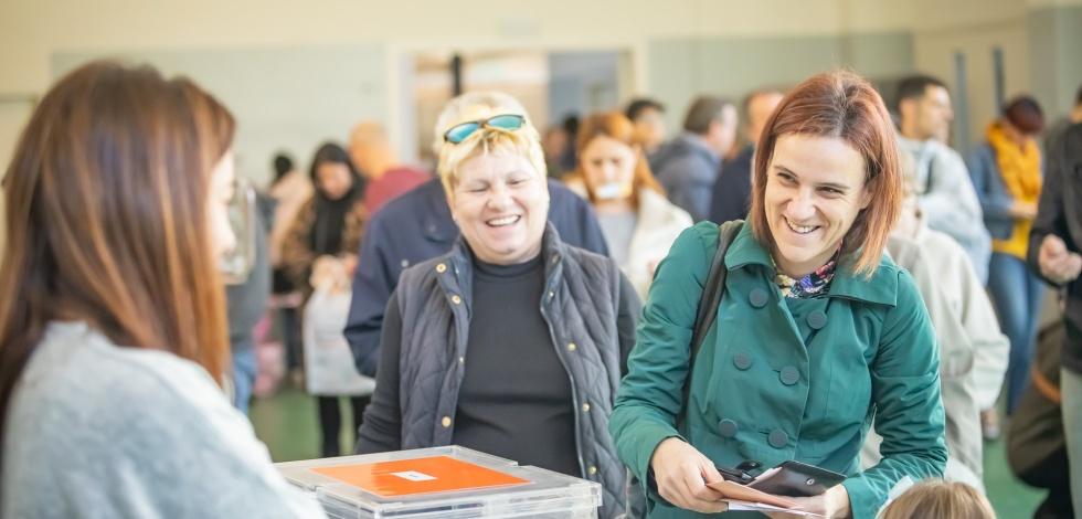 Col·legi electoral al Prat durant les eleccions generals del 10 de novembre de 2019