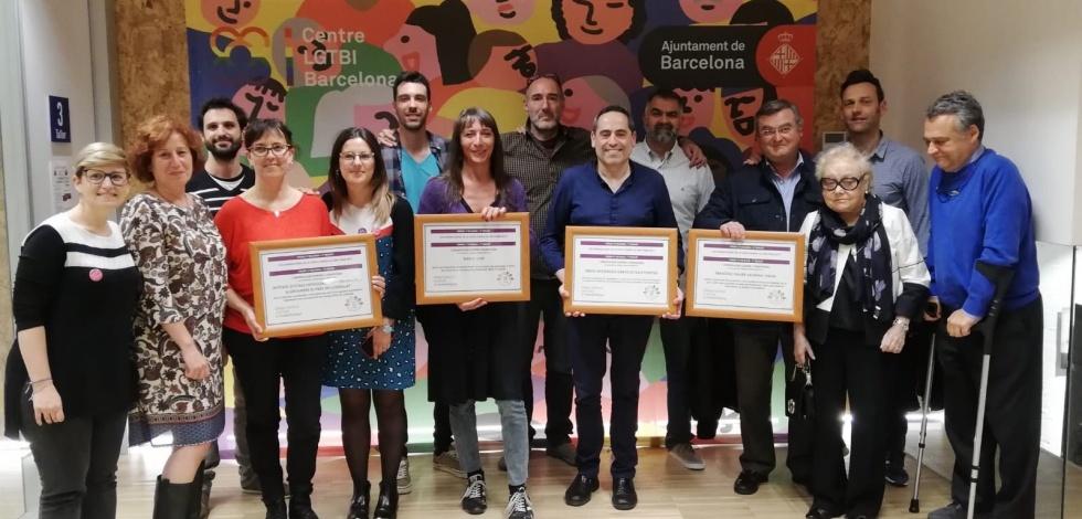 Recollida del Premi 17 de Maig contra l'homofòbia