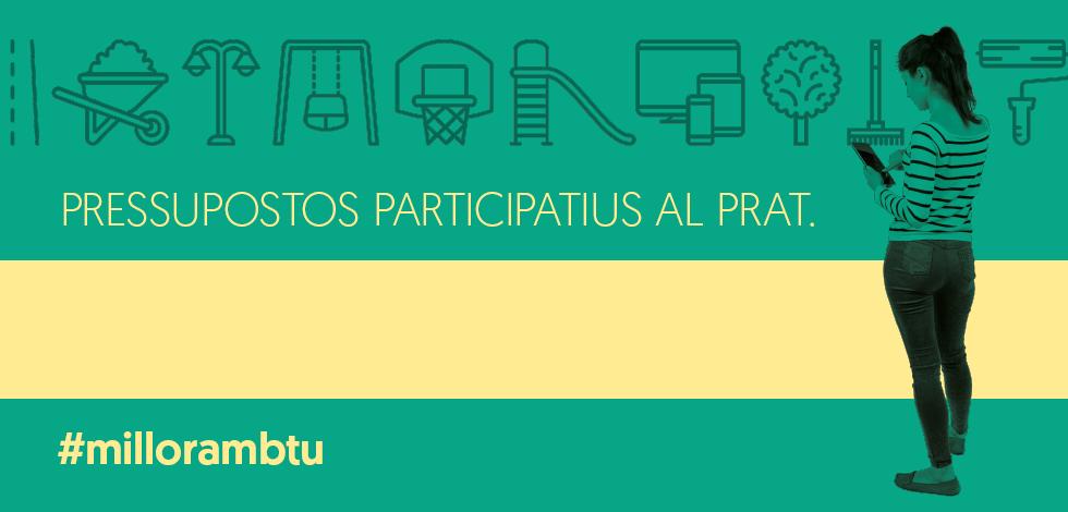 Imatge gràfica Pressupostos participatius El Prat, 2017