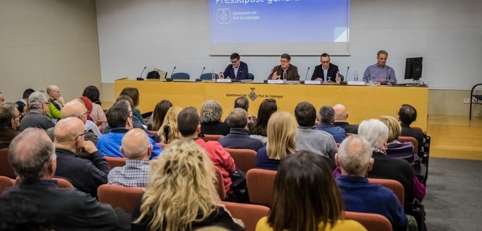 Presentació a les entitats de les línies generals del Pressupost Municipal del Prat 2019