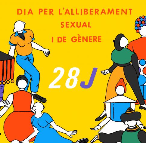 Imatge gràfica 28 J dia de l'Alliberament Sexual i de Gènere 2017