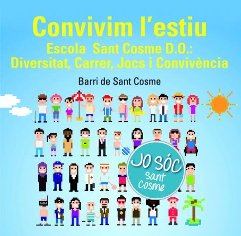Imatge gràfica de l'Escola Oberta d'Estiu de Sant Cosme, 2017