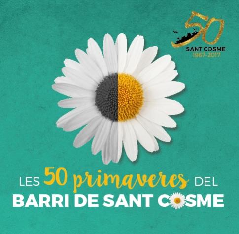 Imatge gràfica 50 primaveres del barri de Sant Cosme, 2017
