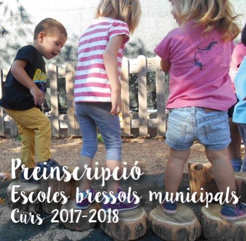 Cartell de la preinscripció a les Escoles Bressol públiques curs 2017 - 2018