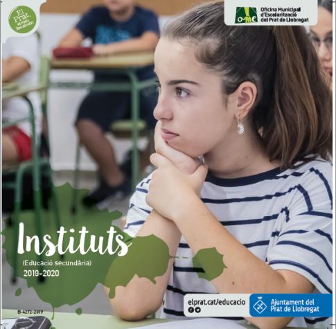 Imatge gràfica de la campanya de preinscripció als instituts, curs 2018 - 2019